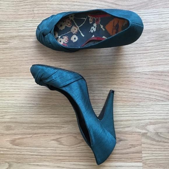 Shoes | Dark Teal Heels | Poshmark